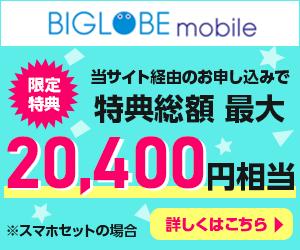 BIGLOBEモバイルの限定キャンペーン